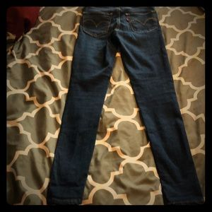 Worn once! Levi's 720 high rise stretchy jeans!